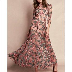 For love and lemons rosali maxi dress - large